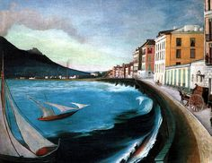 Hand Painted Wall Decorative Art Painting Landscape Oil Painting Castellamare di Stabia by Tivadar Kosztka Csontvary Fine Art Vincent Van Gogh, Oil Painting Gallery, Hand Painted Walls, Web Gallery, European Paintings, Post Impressionism, Oil Painting Reproductions, Rhone, Painting Inspiration