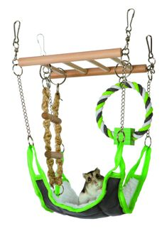 Hammock & Playbridge Gerbil or Hamster Cage Pet Toy - EverythingHamsters