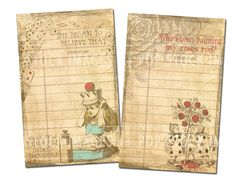 alice in wonderland scrapbook kit - Google Search