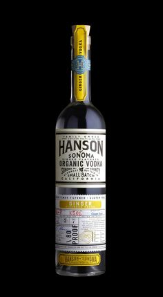 Hanson of Sonoma organic ginger flavored vodka, featured on Package Inspiration. Packaging design by Stranger & Stranger