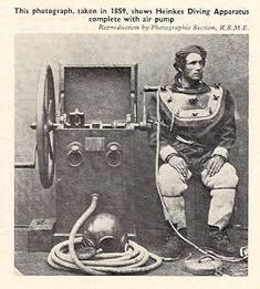 diving suit in 1859.