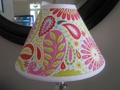 Lamp shade in Kumari Garden Sanjay pink by Zacharydickorydock, $26.00