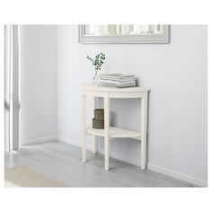 IKEA - ARKELSTORP, Console table, white, Solid wood is a durable natural material. Separate shelf for magazines, etc. helps you keep your things organized and the table top clear. Table Bureau Ikea, Table Ronde Ikea, Ikea Table, At Home Furniture Store, Modern Home Furniture, Affordable Furniture, Office Furniture, Console Ikea, Ikea Solid Wood