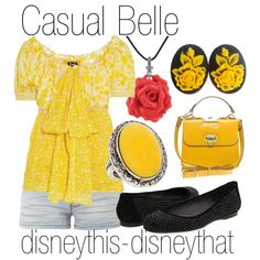 """Casual Belle"" by disneythis-disneythat on Polyvore"