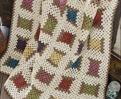 Renkli tığ işi battaniye