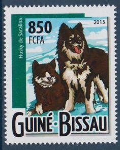 Siberian Husky Dogs Guinea Bissau MNH stamp 2015 SIHU23
