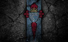 Descargar fondos de pantalla Celta de Vigo, el logotipo, el arte, La Liga bbva, fútbol, club de fútbol, LaLiga, el grunge, el Celta de Vigo FC