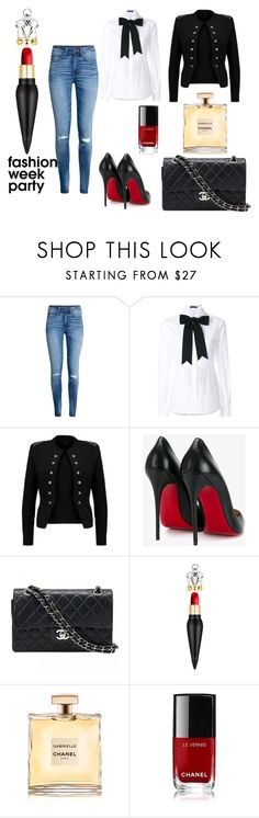 """""""Fashion Week Party"""" by dilettabrizzi on Polyvore featuring moda, H&M, Dolce&Gabbana, Christian Louboutin, Chanel, party, Louboutin e polyvoreeditorial"""