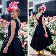 MILLINER: LISA SCHAEFER | Lisa Schaefer Millinery was the incredibly creative Milliner behind this year's Crown Oaks Day FOTF winning outfit! #millinery #fascinator #hatacademy