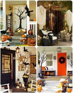 Halloween porch decor ideas  #halloweenporch #halloweendecor #fallporch #falldecorating