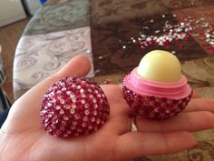 Bling EOS Lip Balm  by LaurenNicolesBling on Etsy, $10.00