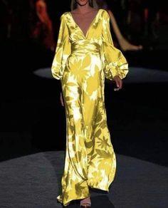 Maxi Dress With Sleeves, Dress Skirt, Dress Up, Types Of Dresses, Looks Style, Boho, Elegant Dresses, African Fashion, Dress To Impress