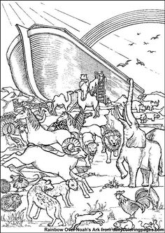 Noahs Ark Bible Coloring Sheets