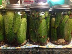 Ball® Mason Jars & Home Canning - Kosher Dill Pickles Crispy Pickles Recipe, Baked Pickles, Kosher Dill Pickles, Recipe Ball, Camp Snacks, Pickels, Cucumber Recipes, Kosher Recipes