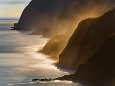 Sea Spray at Sunset, Madeira, Portugal