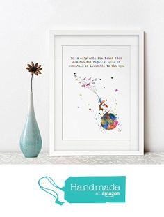 It is only with the heart that one can see rightly what is essential is invisible to the eye Quotes The little Prince Art Print Nursery Decor No Frame AP138 from ArtPrint https://smile.amazon.com/dp/B01JWGN5AO/ref=hnd_sw_r_pi_dp_GcIRxb0T2Q9G8 #handmadeatamazon