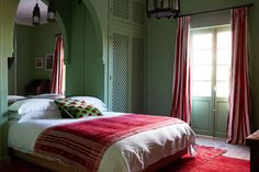 English supermodel Jacquetta Wheeler opens the doors to her newly refurbished Moroccan idyll, Dar Sinclair Bedroom Green, One Bedroom, Home Decor Bedroom, Bedroom Interiors, Moroccan Decor Living Room, Living Room Decor, Trendy Bedroom, Modern Bedroom, Gravity Home