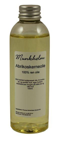 Munkholm Abrikoskerneolie - find den online hos Tankestrejf.dk