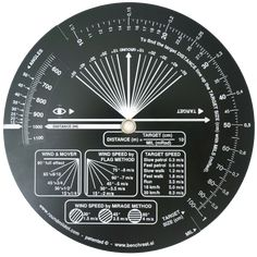 Round MilDot calculator allows very fast and accurate target distance measurement. A-grade calculator is accurate to ca %. This is a US / Imperial version of the calculator: the target size is measured in inches (in) and the range is given in yards (yd). Shooting Range, Calculator, Firearms, Military Service, Weapons Guns, Shtf, Tactical Gear, Shotgun, Prepping