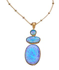 Flying Lizard Blue Opal Pendant Necklace #maxandchloe