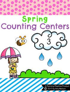 These Spring Counting Centers for Preschool and Kindergarten are a fun way for kids to practice counting, numbers 1-12.There are 6 different counting center activities included in this set. They can be used alone or turned into file folder activities.