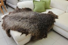 Natural brown color shaggy wool felted rug Ready to by irinaj67, $525.00. This rug is wet felted by hand with natural brown colour Wensleydale wool.This thick, warm and cosy rug was felted with the use of traditional felting techniques.  90*130 cm