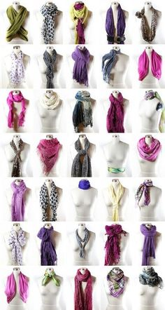 Ways to wear a scarf...  --Candy!