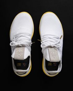21c6e22b03f3e9 Pharrell Williams x adidas Originals Tennis HU  White Yello  available on  StripeCenter