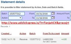 Here is my #113 Withdrawal Proof from Ad Click Xpress. I get paid daily and I can withdraw daily. Online income is possible with ACX, who is definitely paying - no scam here. I WORK FROM HOME less than 10 minutes and I manage to cover my LOW SALARY INCOME. If you are a PASSIVE INCOME SEEKER, then AdClickXpress (Ad Click Xpress) is the best ONLINE OPPORTUNITY for you. Join for FREE and get 20$ + 10$ + 5$ Monsoon, Ad and Media value packs from ACX.