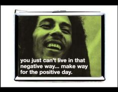 bob marley quote you just can't live in that negative way make way for the positive day double-sided cigarette lighter card case wallet by starzcase on Etsy