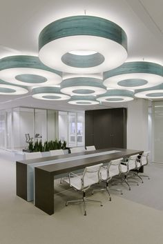 Holland Office Interior Design - conference space lighting