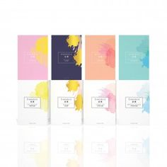 Essence Mask Packaging by Koren Chi Kei Sin More Más Skincare Packaging, Wine Packaging, Paper Packaging, Cosmetic Packaging, Packaging Ideas, Box Design, Mask Design, Makeup Package, Packaging Design Inspiration