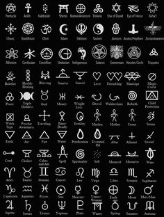 Symbols are a huge part of any earth-based practitioner's ars… Magical Symbols. Symbols are a huge part of any earth-based practitioner's arsenal. Symbols can be used to infuse energy by means of… Magic Symbols, Ancient Symbols, Egyptian Symbols, Ancient Alphabets, Energy Symbols, Ancient Scripts, Magic Font, Friendship Symbols, Chinese Symbols