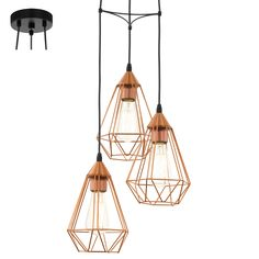 Copper Industrial Cage Lights