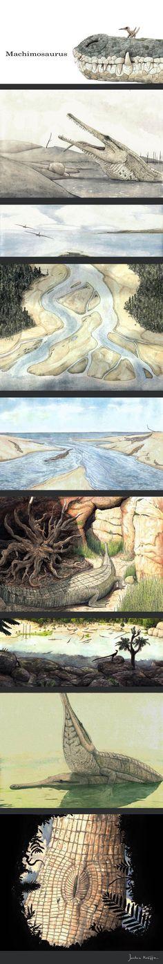The Machimosaurus life cycle by Hyrotrioskjan on deviantART