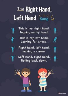 The Right Hand, Left Hand Song - K-3 Teacher Resources