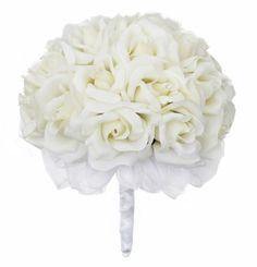 Ivory Silk Rose Hand Tie (2 Dozen Roses) - Wedding Bouquet TheBridesBouquet.com,http://www.amazon.com/dp/B007N6AJPA/ref=cm_sw_r_pi_dp_5iqDtb1R8Z46W1JK