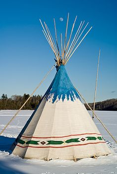 The moon rises above a tipi on East Bearskin Lake. Can you imagine living in this all winter on the edge of the Boundary Waters Canoe Area Wilderness. Native American Teepee, Native American Beauty, Native American History, Native American Indians, Indian Teepee, Native Indian, First Nations, Nativity, Teepees