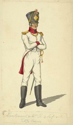 Kingdom of Naples Lieutenant Petit Tenue 6th Lone Infantry 1812
