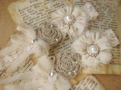 Wedding Garter Set  Ivory Lace Bridal Garter by HenrietteRenee, $27.99