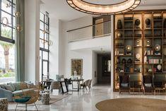 Sin ostentaciones Furniture, Interior, Large Lamps, Exterior Design, Home Decor, Wooden Shelves, Room Divider, Interior Design, Hotel S