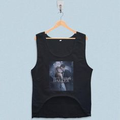 Women's Crop Tank - Fifty Shades Darker Poster Design with low price!Style Deals - We're always on the hunt for elevated basics, like this sleeveless top. It has a boxy cropped fit that will complement high-waisted skinny jeans and penc... Triangle Design, Fifty Shades Darker, Summer Design, Crop Tank, Skinny Jeans, Fit, Cotton, Poster, Tops