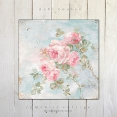 """Romantic Shabby Chic """"Harmony"""" Roses by Debi Coules  Available in canvas and paper at www.debicoules.com"""