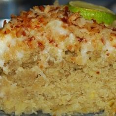 Lime and Coconut Cake Recipe | Just A Pinch Recipes