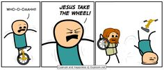 Taking the wheel.