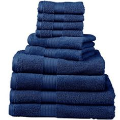 Deluxe Towel Set def love those bath sheets Best Bath Towels, Bath Towel Sets, Bathroom Towels, Hand Towels, Black Bathroom Sets, Gold Bathroom, Bath Sheets, Cotton Towels, Bath Accessories