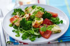 Broccoli and salmon salad - Tesco Real Food