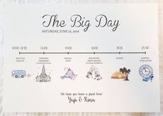 """What is the """"timeline"""" that tells the flow of the wedding day enclosed in the invitation?- Enclose it with your invitation ♡ Paper item """"Timeline"""" design specializing in the flow of the wedding day ♩ - Debut Invitation, Invitation Paper, Invitation Wording, Wedding Paper, Wedding Cards, Wedding Stationery, Wedding Invitations, Wedding Party Games, Wedding Ideas"""