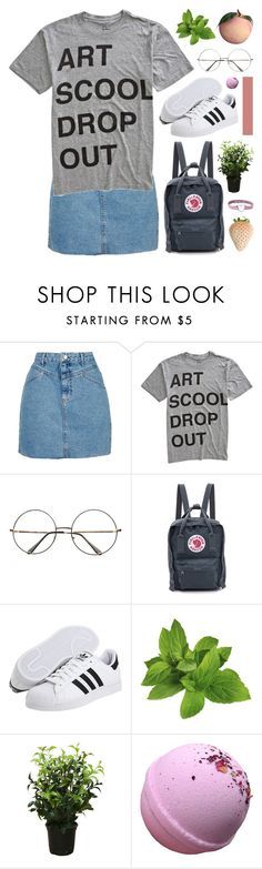 """""""Would you please have mercy on me?"""" by novalikarida ❤ liked on Polyvore featuring Topshop, COPY, Fjällräven, adidas Originals and Brucs"""