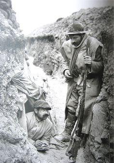 """Men had to stay in """"listening posts"""" in case the enemy tried to dig a tunnel under the trench to make it explode."""